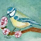 Blue Tit among the blossom by Shoshonan