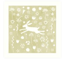 Hare in the Meadow Art Print