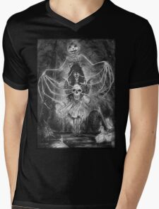 Watch Out For The Ghouls During Halloween Mens V-Neck T-Shirt