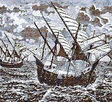 Bartholomew Diaz on His Voyage to the Cape of Good Hope,  1486 by Dennis Melling