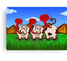 Loving Cows Canvas Print