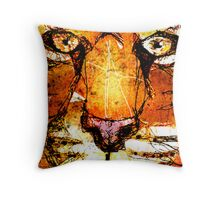Scribble Tiger Throw Pillow