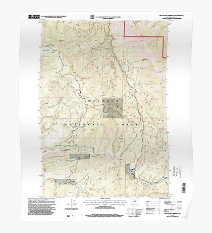 USGS Topo Map Oregon Big Weasel Springs 279034 1998 24000 Poster