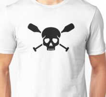 Crossed paddles skull Unisex T-Shirt