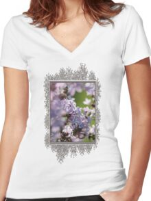 Common Purple Lilac Women's Fitted V-Neck T-Shirt