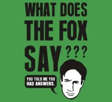 Fox Mulder - What Does The Fox Say One Piece - Short Sleeve