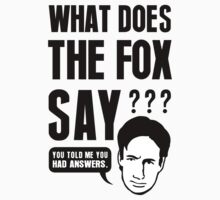 Fox Mulder - What Does The Fox Say by TheRents