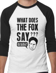 Fox Mulder - What Does The Fox Say Men's Baseball ¾ T-Shirt