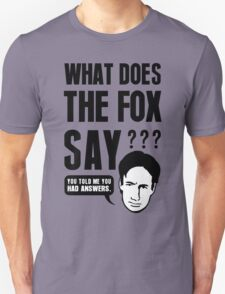 Fox Mulder - What Does The Fox Say T-Shirt