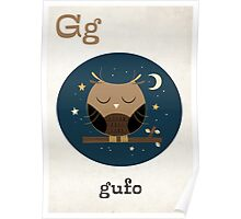 G is for Gufo Poster