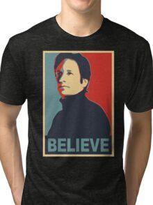 FOX MULDER BELIEVE Tri-blend T-Shirt