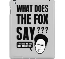 Fox Mulder - What Does The Fox Say iPad Case/Skin