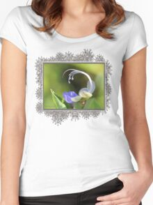 Clerodendrum Ugandense or Blue Butterfly Bush Women's Fitted Scoop T-Shirt