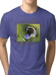 Clerodendrum Ugandense or Blue Butterfly Bush Tri-blend T-Shirt