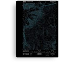 USGS Topo Map Oregon Partridge Creek 20110816 TM Inverted Canvas Print