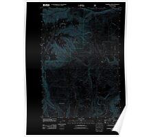 USGS Topo Map Oregon Partridge Creek 20110816 TM Inverted Poster