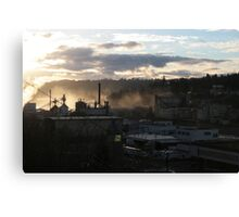 Blue Heron Paper Mill on the Wilamette Canvas Print