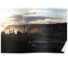 Blue Heron Paper Mill on the Wilamette Poster