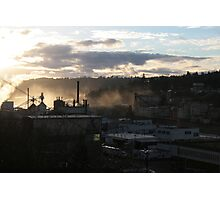 Blue Heron Paper Mill on the Wilamette Photographic Print