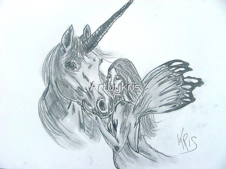 Unicorn and Fairy  by Artbykris