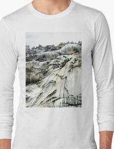 Yosemite NP: 'Winter Stone' - Watercolours. Long Sleeve T-Shirt