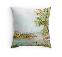 Coombe menagerie. Throw Pillow