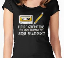 Cassette Tape And Pencil - Future Generations Will Never Understand Women's Fitted Scoop T-Shirt