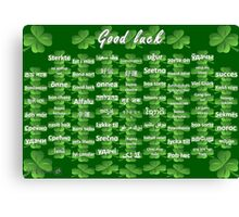 Good Luck Canvas Print