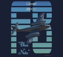 "Gloster Meteor F8 ""Blue Note"" T-shirt Design by muz2142"