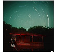 The Visitor, star trail exposure by Rob Layton