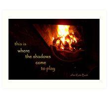 tale of fire Art Print