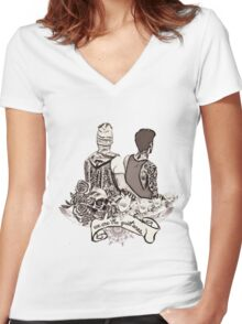 We are the quiet ones Women's Fitted V-Neck T-Shirt