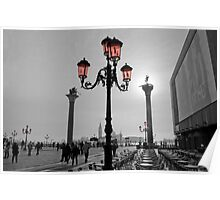 Venice Glass in Piazza San Marco Poster