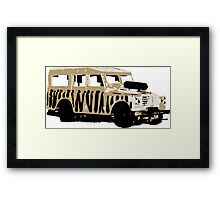 Landrover Jeep Safari Framed Print