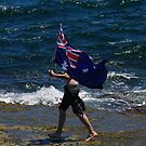 Australian flag on the reef by janfoster