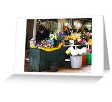 Fresh Flowers - OPorto, Portugal Greeting Card