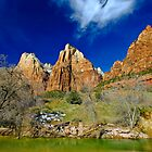The Patriarchs, Zion Virgin River by photosbyflood