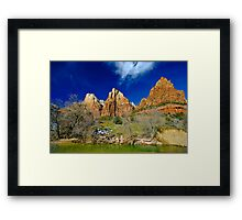 The Patriarchs, Zion Virgin River Framed Print