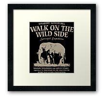Elephant - Walk on the wild side Framed Print