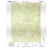 USGS Topo Map Oregon Horse Sign Butte 280249 1998 24000 Poster