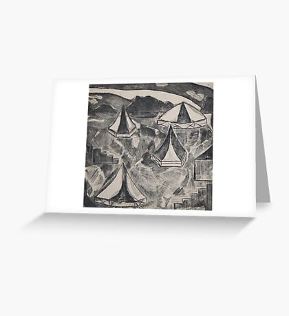 Tents in a Field Greeting Card