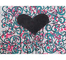 Black Heart Photographic Print