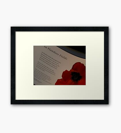 In Flanders Fields Framed Print