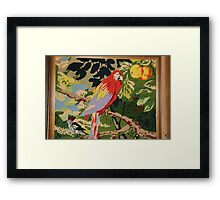 Parrot On A Branch Framed Print