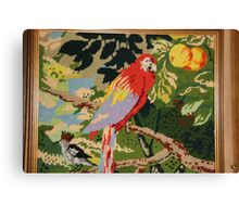 Parrot On A Branch Canvas Print