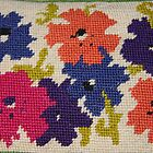 A Rainbow of Flowers~ Needlepoint by fionahoratio