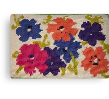 A Rainbow of Flowers~ Needlepoint Canvas Print