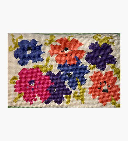 A Rainbow of Flowers~ Needlepoint Photographic Print