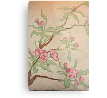 Loveliness Can Be On A Fragile Branch Metal Print