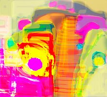 Abstract Color Digital Painting by Don Wright